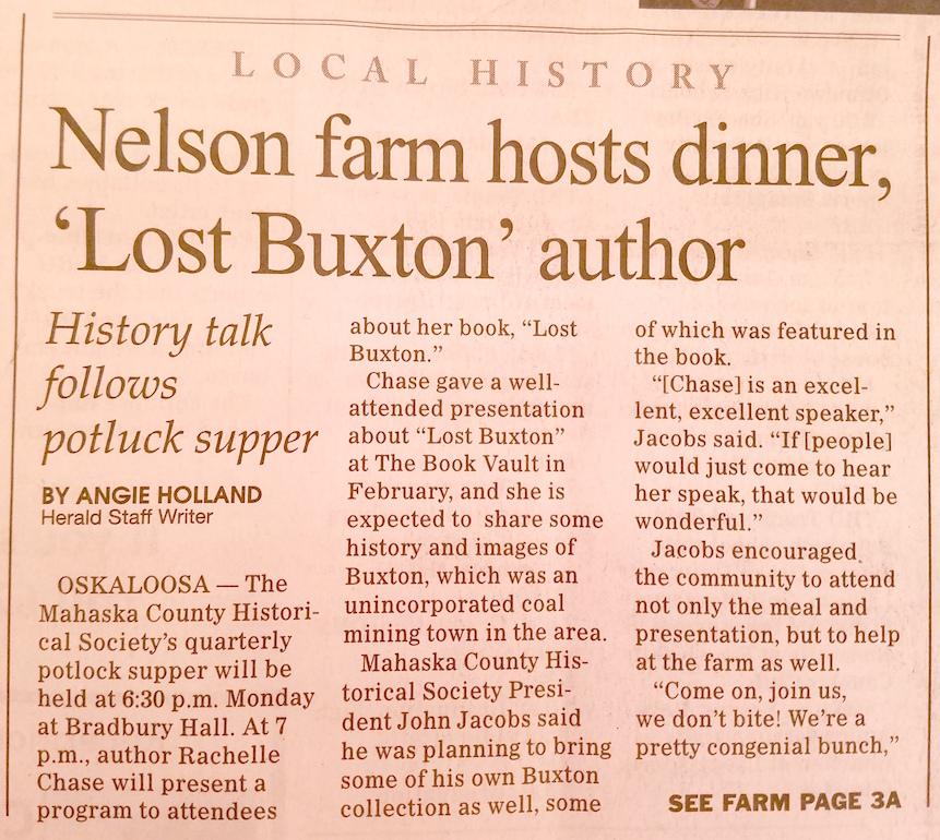 Oskaloosa Herald - Nelson Pioneer Farm