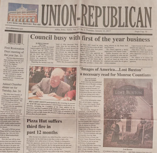 Lost Buxton in Albia Union-Republican
